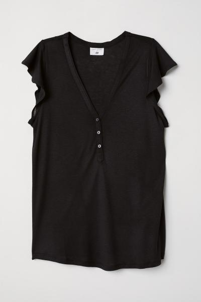 Image Top with ruffles sleeves H&M 0650570003