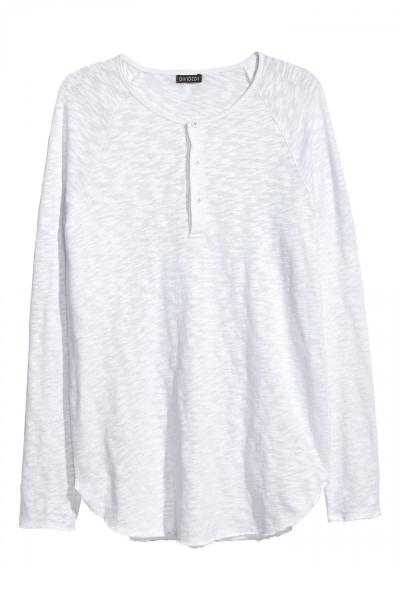 Image T-shirt with long sleeves H&M 0468011003