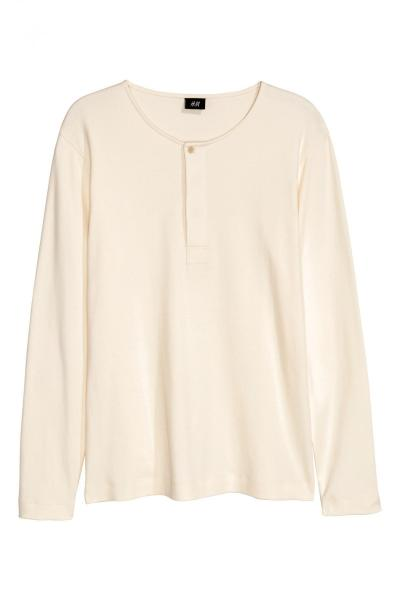 Image T-shirt with long sleeves H&M 0393532004