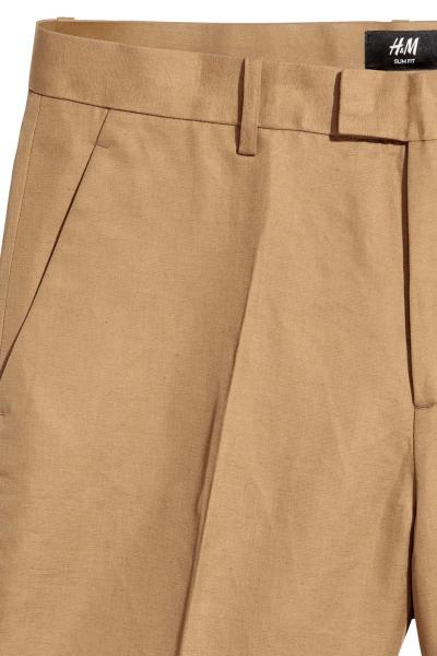 Image Blended Linen Chinos H&M 0483331006_brown