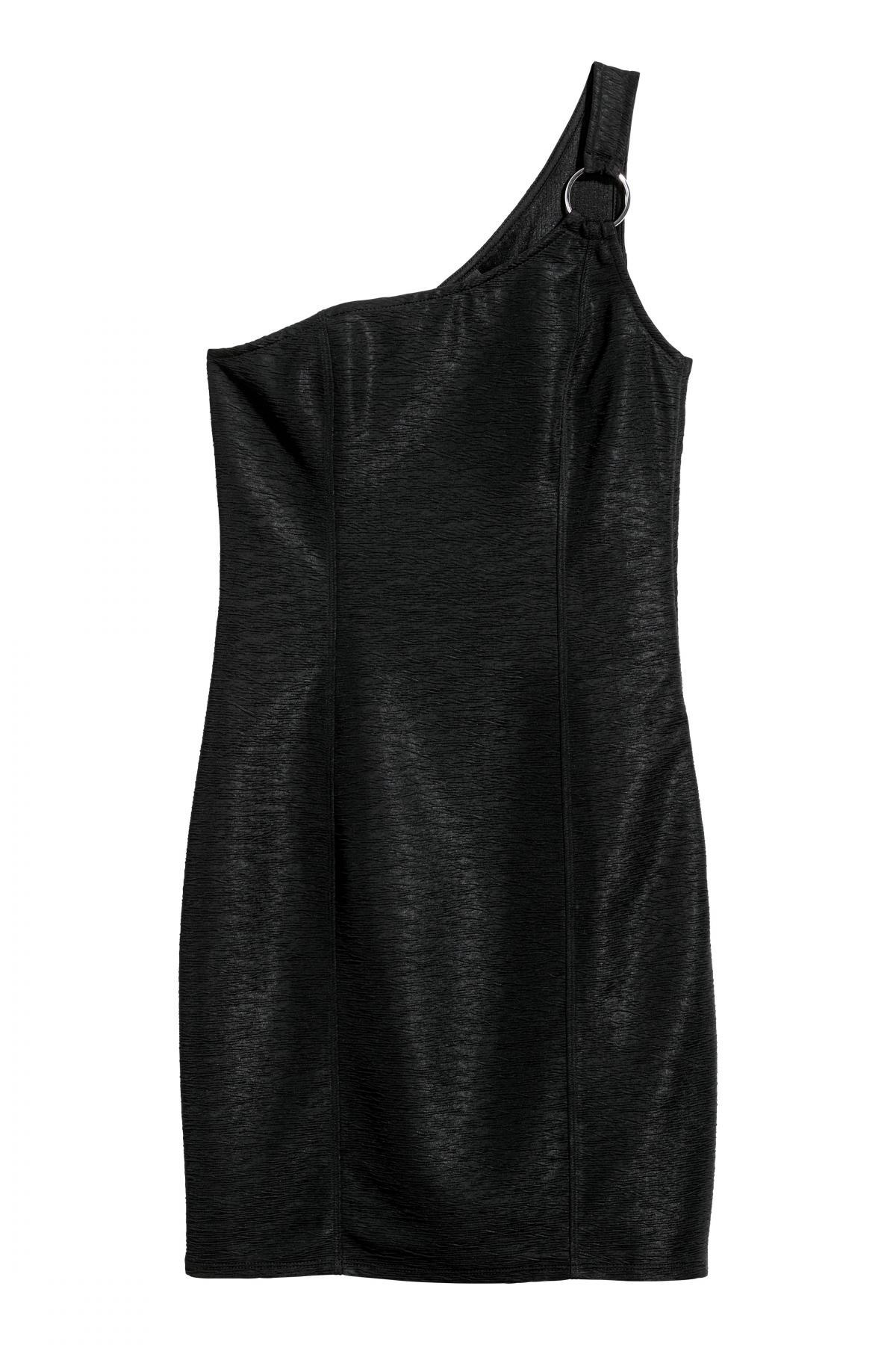 buy, dress, with, open, shoulder, h&m, women's, 0554892002, black, color, deliver price from 10.76 $