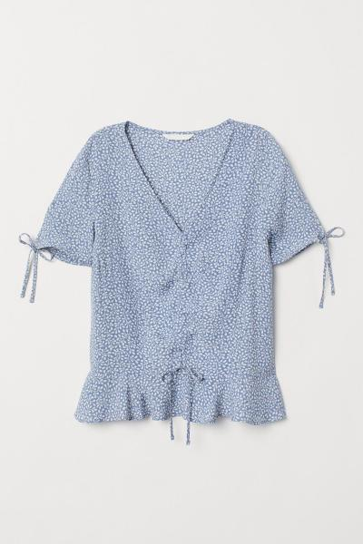 Main image Patterned viscose blouse H&M 0747216009