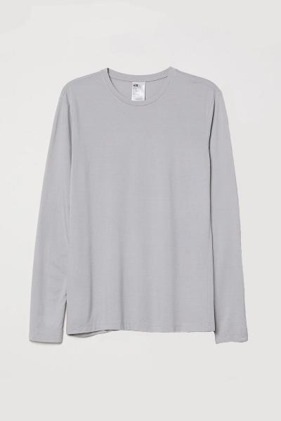 Image T-shirt with long sleeves H&M 0709086008