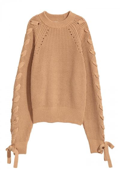 Image Knitted jumper with lacing H&M 0545264004