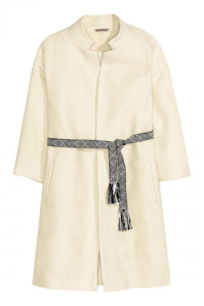 Image H&M+ Boucle coat with belt H&M 0352835001
